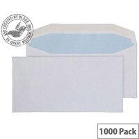 Purely Everyday White DL Envelopes Mailer Wallet Gummed 80gsm Pack of 1000