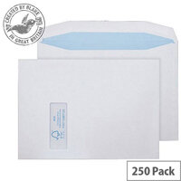 Purely Environmental Mailer Gummed Window White 100gsm C4 229x324 (Pack of 250)