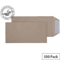 Purely Everyday Manilla DL Pocket Peel and Seal Envelopes 115gsm Pack of 500
