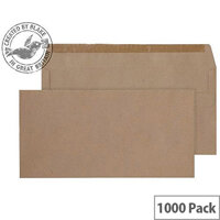 Purely Everyday DL Manilla Self Seal Wallet Envelopes 80gsm Pack of 1000