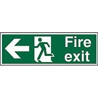 Prestige Sign 2mm DS 300x100 Fire Exit Man Running & Arrow Pointing Left