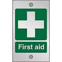 Clear Acrylic Sign 120x200 5mm Acrylic First Aid