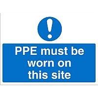 Construction Board 600x400 3mm Foam PVC PPE Must Be Worn