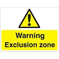 Construction Board 600x450 Safety Sign 4mm Fluted Warning Exclusion Zone
