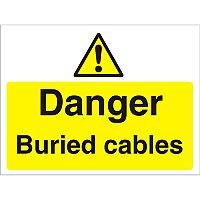 Construction Board 600x400 3mm Foam PVC Danger Buried Cables