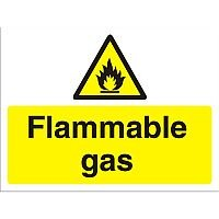 Construction Safety Board 600x450 Safety Sign 4mm Fluted Flammable Gas