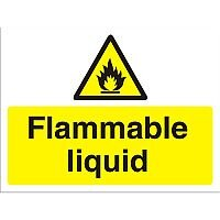Construction Board 600x450 Safety Sign 3mm Foam PVC Flammable Liquid
