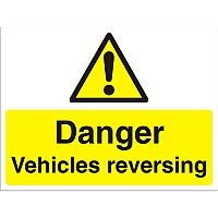 Construction Boar Safety Sign 4mm Fluted Danger Vehicles Reversing