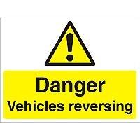 Construction Board 600x400 3mm Danger Vehicles Reversing