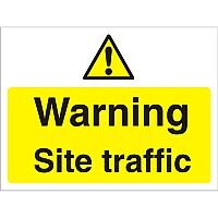 Construction Board 600x450 Safety Sign 4mm Fluted Warning Site Traffic