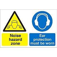 Construction Board 600x400 3mm Foam PVC Noise Hazard Zone
