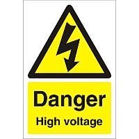 Construction Board 400x600 Safety Sign 4mm Fluted Danger High Voltage