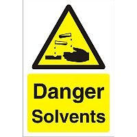 Construction Board 400x600 Safety Sign 3mm Foam PVC Danger Solvents