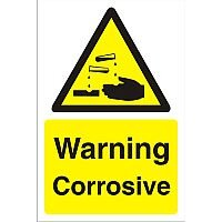 Construction Board 400x600 4mm Fluted Warning Corrosive