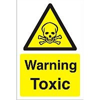 Construction Safety Board 400x600 Safety Sign 4mm Fluted Warning Toxic