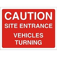 Construction Board 600x450 Safety Sign 3mm foam PVC Caution Site Entrance