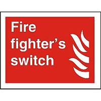 Photolum Fire Sign 200x300 Fire Fighters Switch Self Adhesive Vinyl