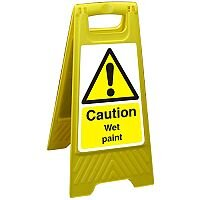 Free Standing Floor Sign 300x600 Poly Caution Wet Paint Ref FSS002300x600