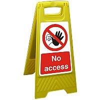 Free Standing Floor Sign 300x600 Polypropylene No Access Ref FSS021-300x600