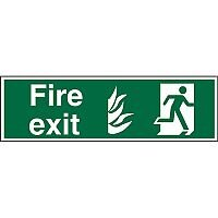NHS Compliant Sign 600x200 1mm Fire Exit Man Running Right