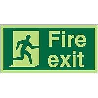 Photolum Acrylic Exit Sign 200x100 Fire Man Running Right