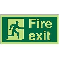 Photolum Acrylic Sign 2mm 300x150 Fire Exit Man Running Right