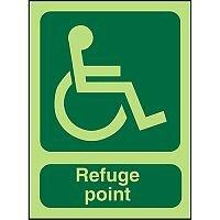 Photolum Sign 2mm 450x150 Wheel Chair Pictogram Refuge Point