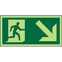 Photolum Sign 300x150 1mm Man Running Right & Arrow Down Right
