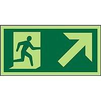 Photolum Sign 300x150 Man Running Right & Up Right Arrow PVC 1mm