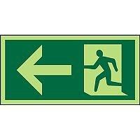 Photolum Sign 300x150 1mm Plastic Man Running & Arrow Left