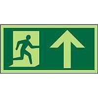 Photolum Sign 300x150 1mm Plastic Man Running Right & Arrow Up