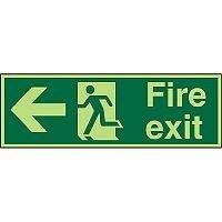 Photolum Sign 450x150 1mm Fire Exit Man Running & Arrow Pointing Left