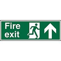 Photolum Sign 600x200 Fire Exit - Man Running Right & Arrow Pointing Up