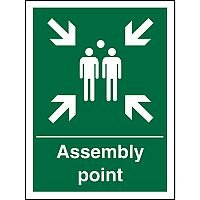 Safe Procedure Sign 400x600 Assembly Point Self Adhesive Vinyl