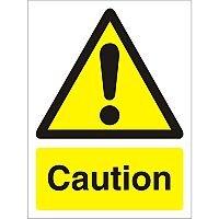 Warning Sign 300x400 1mm Semi Rigid Plastic Caution