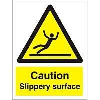 Warning Sign 300x400 1mm Plastic Caution - Slippery Surface