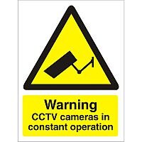 Warning Sign 300x400 1mm Warning CCTV Cameras in Operation Pack 1