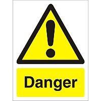 Warning Sign 300x400 1mm Semi Rigid Plastic Danger