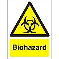 Warning Sign 300x400 1mm Semi Rigid Plastic Biohazard
