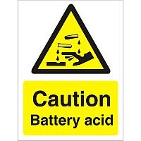 Warning Sign 300x400 1mm Plastic Caution Battery Acid Pack 1