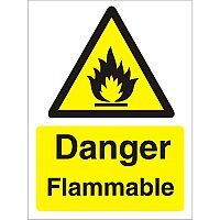 Warning Sign 300x400 1mm Plastic Danger - Flammable