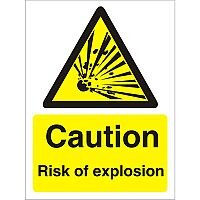Warning Sign 300x400 1mm Plastic Caution Risk of Explosion