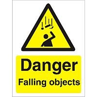 Warning Sign 300x400 1mm Plastic Danger - Falling Objects