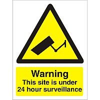 Warning Sign 300x400 1mm Warning This Site Under 24 hour Surveillance
