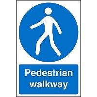 Stewart Superior Warehouse Signs 600x400 1mm Semi Rigid Plastic - Pedestrian walkway