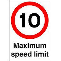 Stewart Superior Warehouse Signs 600x400 1mm Semi Rigid Plastic - 10 Maximum speed limit