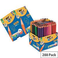 Bic Kids Evolution Ecolutions Colour Pencils Assorted Wallet Pack of 288