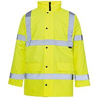 Supertouch High Visibility Standard Parka Jacket with 2-Way Zip Fastening Yellow Ref 35421