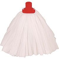 Robert Scott & Sons Big White Socket Mop Head T1 Non-woven Large Colour-coded Red Ref PSTR15 [Pack 10]