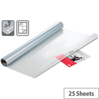 Nobo 600x800mm Instant Whiteboard Dry Erase Sheets with 25 Sheets Per Roll Clear